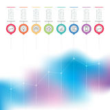 Business chart graph of increase. Vector infographics with icons Stock Photography