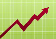 Business chart green Stock Images