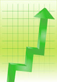 Business chart green Stock Photography