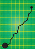 Business chart green Stock Image