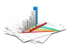 Business chart with growth graph Stock Photography