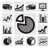 Business chart icons Royalty Free Stock Image