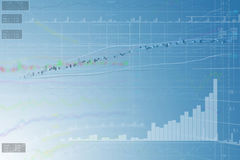 Business Chart-icons blue. Background Royalty Free Stock Images