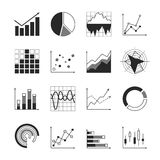 Business chart icons Royalty Free Stock Photos