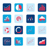 Business chart icons Stock Image