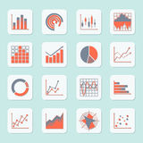 Business chart icons Royalty Free Stock Photo