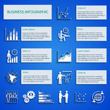 Business chart icons infographic. Business infographic with report elements charts icons set vector illustration Royalty Free Stock Image