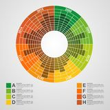 Business chart for infographic and reports. Stock Photo