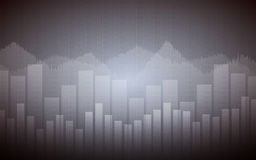 Business chart with line graph and bar chart in Sideways market on gray color background Royalty Free Stock Images