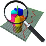 Business chart and loop Royalty Free Stock Image