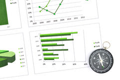 Business chart market Royalty Free Stock Image