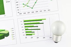 Business chart market Stock Images