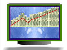Business chart monitor Stock Photography