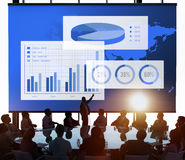 Business Chart Organisation Success Concept. Business people meeting marketing strategy Stock Photos