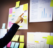 Business Chart Organization Planning Marketing Concept.  Stock Photo