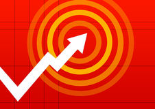 Business chart pointing Stock Photography