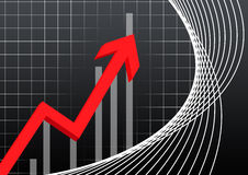 Business chart pointing Stock Images