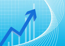 Business chart pointing blue Royalty Free Stock Image