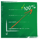Business chart with red rising arrow Stock Images