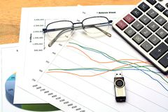 Business Chart Report Stock Photography