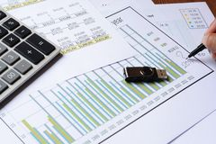 Business chart report Royalty Free Stock Image
