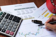 Business chart report Stock Photo