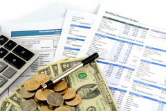 Business chart report Stock Image