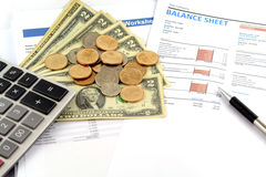 Business chart report Stock Photos