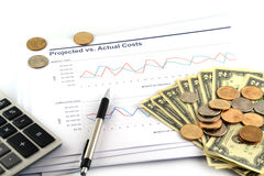 Business chart report Royalty Free Stock Photo