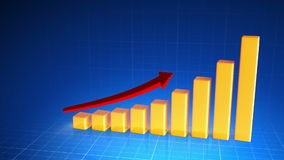 Business Chart stock footage