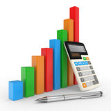 Business chart showing financial success Royalty Free Stock Photos