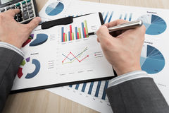 Business chart showing financial success Stock Photo