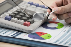 Business chart showing financial success Stock Images