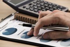 Business chart showing financial success Stock Photos