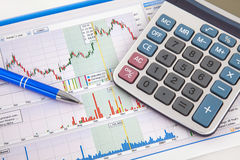 Business chart showing success Stock Photos