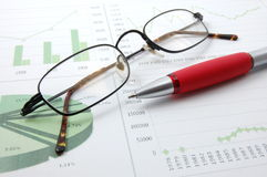 Business chart showing success Stock Image