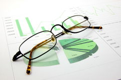 Business chart showing success Stock Images