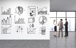 Business chart sketches Royalty Free Stock Images