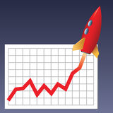 Business chart skyrocketing Royalty Free Stock Photo