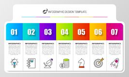 Business chart with 7 steps. Infographic design template. Vector illustration vector illustration