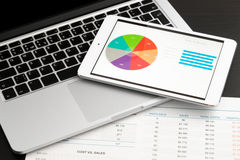 Business chart on tablet Stock Image