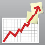 Business chart up Royalty Free Stock Photos