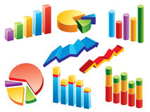 Business Charts. Collection of graphs and charts. More illustrations in my portfolio Stock Images