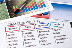 Business Charts Royalty Free Stock Photography