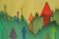 Business charts with arrow. Business charts with growth arrow Royalty Free Illustration