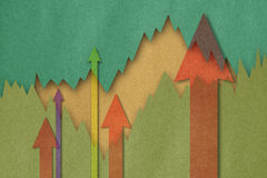 Business charts with arrow. Business charts with growth arrow Vector Illustration