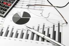 Business Charts Black and White stock images