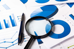 Business Charts blue royalty free stock photo