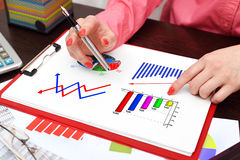 Business charts Royalty Free Stock Photo