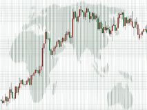 Business charts, Candlestick. Spreadsheet data and business charts, Africa, Candle Royalty Free Stock Photos